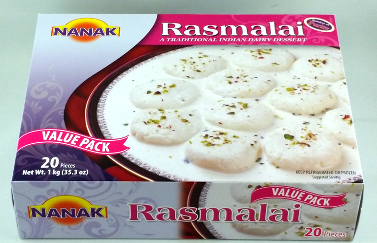 Nanak : Rasmalai Frozen [ 20 piece / 1 kg ] Delivery only with frozen parcel